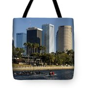 Sculling In Tampa Bay Florida Tote Bag