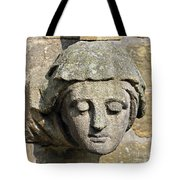 Sculpted Head Of Woman. Tote Bag