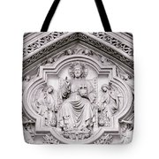 Sculpture Above North Entrance Of Westminster Abbey London Tote Bag