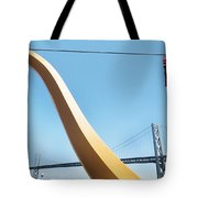 Sculpture By San Francisco Bay Bridge Tote Bag