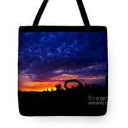 Sculpture By The Sea - Sunset Silhouette By Kaye Menner Tote Bag