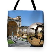 Sculpture In The Pinecone Courtyard Tote Bag