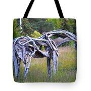 Sculpture Of Horse Tote Bag