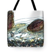 Sea And Rocks Landscape Tote Bag