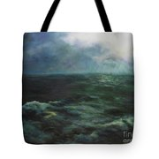 Sea And Sky Tote Bag by Diane Kraudelt