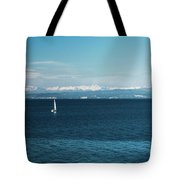 Sea And Snowy Alps Tote Bag