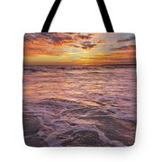 Sea At Sunset In Algarve Tote Bag
