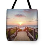 Sea Birds At Sunrise Tote Bag