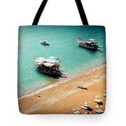 Sea Boats In The Laguna Tote Bag