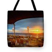 Sea Cruise Sunrise Tote Bag