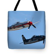 Sea Fury And Bearcat Tote Bag