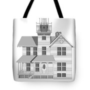 Sea Girt New Jersey Architectural Drawing Tote Bag