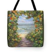 Sea Grape Heart Tote Bag