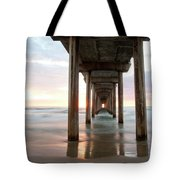 Sea Gull Watching At Scripps Pier Tote Bag