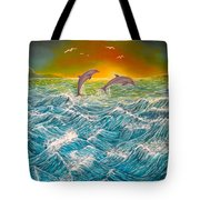 Sea In Action Tote Bag