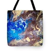 The Sea Kises The Desert Tote Bag