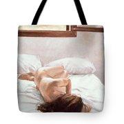 Sea Light On Your Body Tote Bag by John Worthington