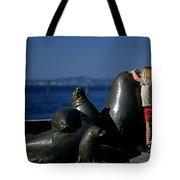 Sea Lion Sculpture  Tote Bag