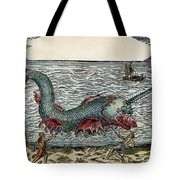 Sea Monster, 16th Century Tote Bag