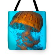 Sea Nettle Jellyfish - Orange And Turquoise Tote Bag