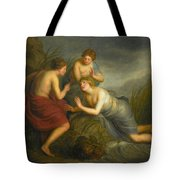 Sea Nymphs Discovering The Hair Of Medusa Turning To Coral Tote Bag