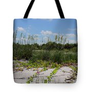 Sea Oats And Blooming Cross Vine Tote Bag