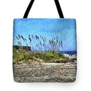 Sea Oats And Coastline Tote Bag