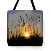 Sea Oats At Sunset Tote Bag
