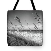Sea Oats In Black And White Tote Bag