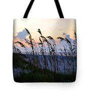 Sea Oats Silhouette Tote Bag by Kristin Elmquist