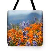 Sea Of California Wildflowers Tote Bag