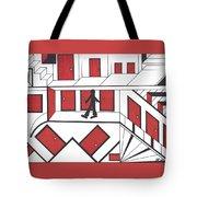 Red Doors Tote Bag