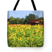 Sea Of Sunflowers Tote Bag