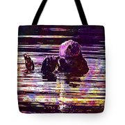 Sea Otter Swimming Floating Water  Tote Bag
