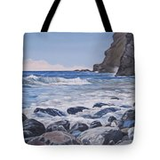 Sea Pounded Stones At Crackington Haven Tote Bag