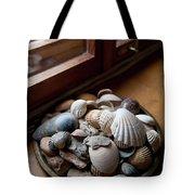 Sea Shells And Stones On Windowsill Tote Bag