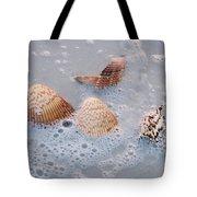 Sea Shells In An Ocean Wave Tote Bag