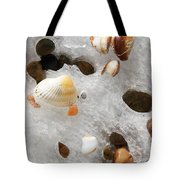 Sea Shells Rocks And Ice Tote Bag