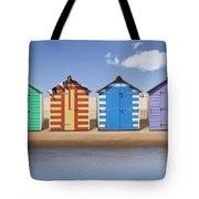 Seaside Beach Huts Tote Bag