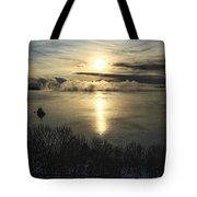 Sea Smoke At Sunrise Tote Bag