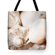 Sea Snails And Molluscs Empty Shells Sepia Toned  Tote Bag