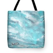 Sea Spirit - Teal And Gray Art Tote Bag
