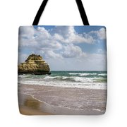 Sea Stack Sculpted Like A Ship Riding The Waves Tote Bag