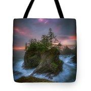 Sea Stack With Trees Of Oregon Coast Tote Bag