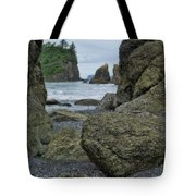 Sea Stacks And Boulders Washington State Tote Bag