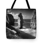 Sea Stacks At Castle Sinclair Girnigoe Tote Bag