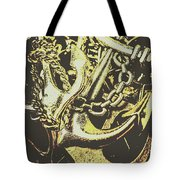 Sea Tides And Maritime Anchors Tote Bag