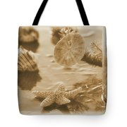 Sea Treasure -sepia Tote Bag