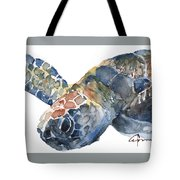 Sea Turtle - Large Size Tote Bag