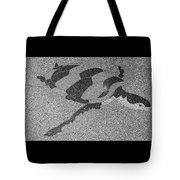 Sea Turtle Inlay In Grayscale Tote Bag